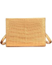 Nancy Gonzalez - Small Crocodile Clutch With Strap - Lyst