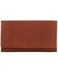 Ermenegildo Zegna - Pelle Tessuta Woven Leather Iphone 7 Wallet - Lyst