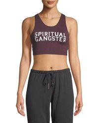 Spiritual Gangster - Sg Varsity Tech Crop Bra - Lyst