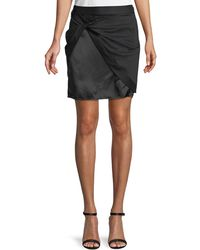 470fee93c Helmut Lang Mahogany Stretch Leather Skirt in Brown - Lyst