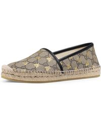 Gucci - Flat Pilar GG Espadrille With Bees - Lyst
