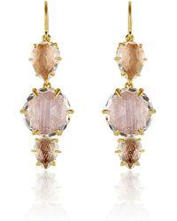 Larkspur & Hawk - Caterina 3-drop Earrings - Lyst