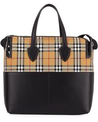 Burberry - Kingswood Vintage Check & Leather Diaper Bag - Lyst