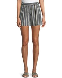 Lafayette 148 New York - Greenpoint Belvedere Stripe City Shorts - Lyst