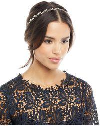 Jennifer Behr - Lina Swarovski® Crystal & Pearl Circlet Headband - Lyst