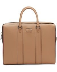 Christian Louboutin - Men's Streetwall Leather Briefcase - Lyst
