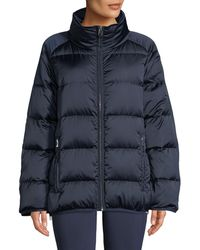 Tory Sport - Satin Down Full-zip Puffer Jacket - Lyst