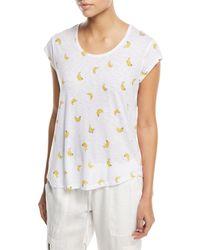 Joie - Neyo B Crewneck Banana-print T-shirt - Lyst