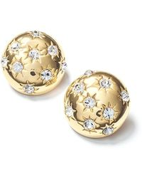 Fallon - Starburst Deco Button Earrings - Lyst