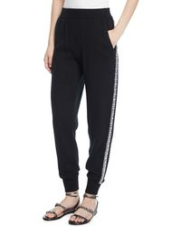 Michael Kors - Cashmere Crystal-striped Joggers - Lyst