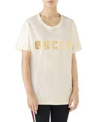 Gucci - Guccy Logo T-shirt - Lyst