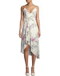 Equipment - Estille V-neck Sleeveless Floral-print Wrap-style Dress - Lyst