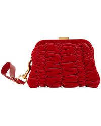 Tom Ford - Quilted Velvet Clutch Bag With Wristlet - Lyst
