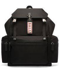 Bally - Men's Flap-top Nylon Backpack - Lyst