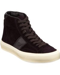 Tom Ford - Men's Cambridge Suede High-top Sneakers - Lyst
