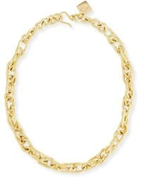 Ashley Pittman - Saka Bronze Chain Link Necklace - Lyst
