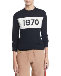 Bella Freud - 1970 Sparkle Graphic Wool Sweater - Lyst