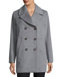 Fleurette - Double-breasted Wool Boyfriend Pea Coat - Lyst