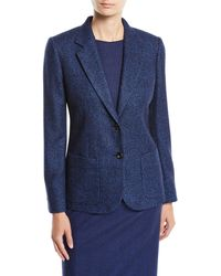Kiton - Two-button Textured Wool-blend Jacket - Lyst