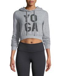 Alo Yoga - Getaway Cropped Hoodie Sweatshirt - Lyst