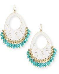 Ashley Pittman - Vuka Turquoise Beaded Earrings - Lyst