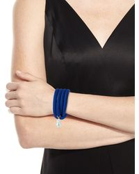 Grazia And Marica Vozza - Silk Wrap Bracelet With Baroque Pearl - Lyst