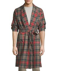 Fear Of God - Open-front Plaid Wool Robe - Lyst