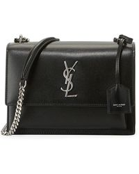 Lyst - Saint Laurent Toy Ysl Cabas Bag In Black Leather And Suede in ... 497973f712f6a