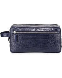 Santiago Gonzalez - Crocodile Double-zip Travel Bag - Lyst