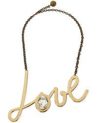 Lanvin - Golden Love Pendant Necklace - Lyst