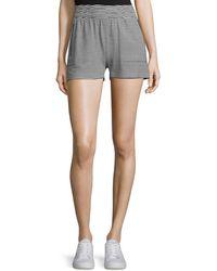 Norma Kamali - Striped Boyfriend Sport Shorts - Lyst