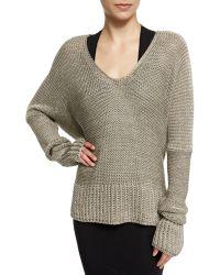 Urban Zen - Long-sleeve Draped Knit Sweater - Lyst