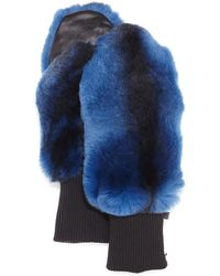 GP Luxe - Rabbit Fur/knit Mittens - Lyst