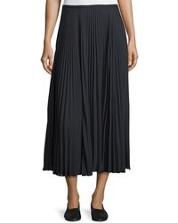 Vince - Pleated A-line Midi Skirt - Lyst
