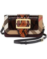 Lyst - Burberry Patchwork Check Canvas 2a06c304eeeaa
