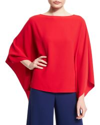 Pink Pony - 3/4-sleeve Poncho Top - Lyst