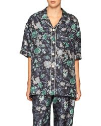 Burberry - Short-sleeve Floral Pajama Shirt - Lyst