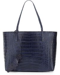 Nancy Gonzalez - Erica New Crocodile Leaf Tote Bag - Lyst