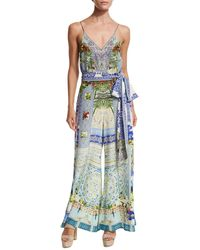 Camilla - Belted Wide-leg Jumpsuit - Lyst
