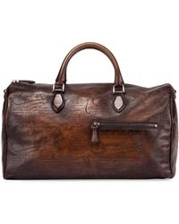 Berluti - Jour-off Scritto Large Leather Duffel Bag - Lyst