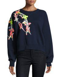 Jason Wu | Holiday Floral Wool Sweatshirt | Lyst