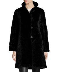 Trilogy - Reversible Mink Fur-trim Coat - Lyst