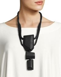 Urban Zen - Leather-wrapped Prayer Necklace - Lyst