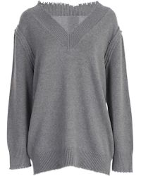 T By Alexander Wang - Maglia Scollo V - Lyst