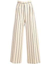 Erika Cavallini Semi Couture | Pantalone Christelle - Largo C/doppia Pences | Lyst