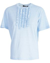 DSquared²   T-shirt C/rouches Davanti   Lyst