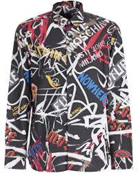 """Love Moschino - Camicia """"all Over Graffiti"""" - Lyst"""