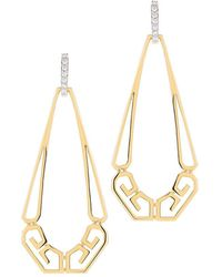 "Ivanka Trump - 18k Yellow Gold ""metropolis"" Pear-shaped Drop Earrings - Lyst"