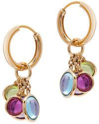 Goshwara - Multicolored Gemstone Charm Hoop Earrings - Lyst