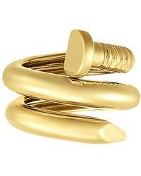 """David Webb - Polished 18k Yellow Gold """"nail"""" Ring - Lyst"""